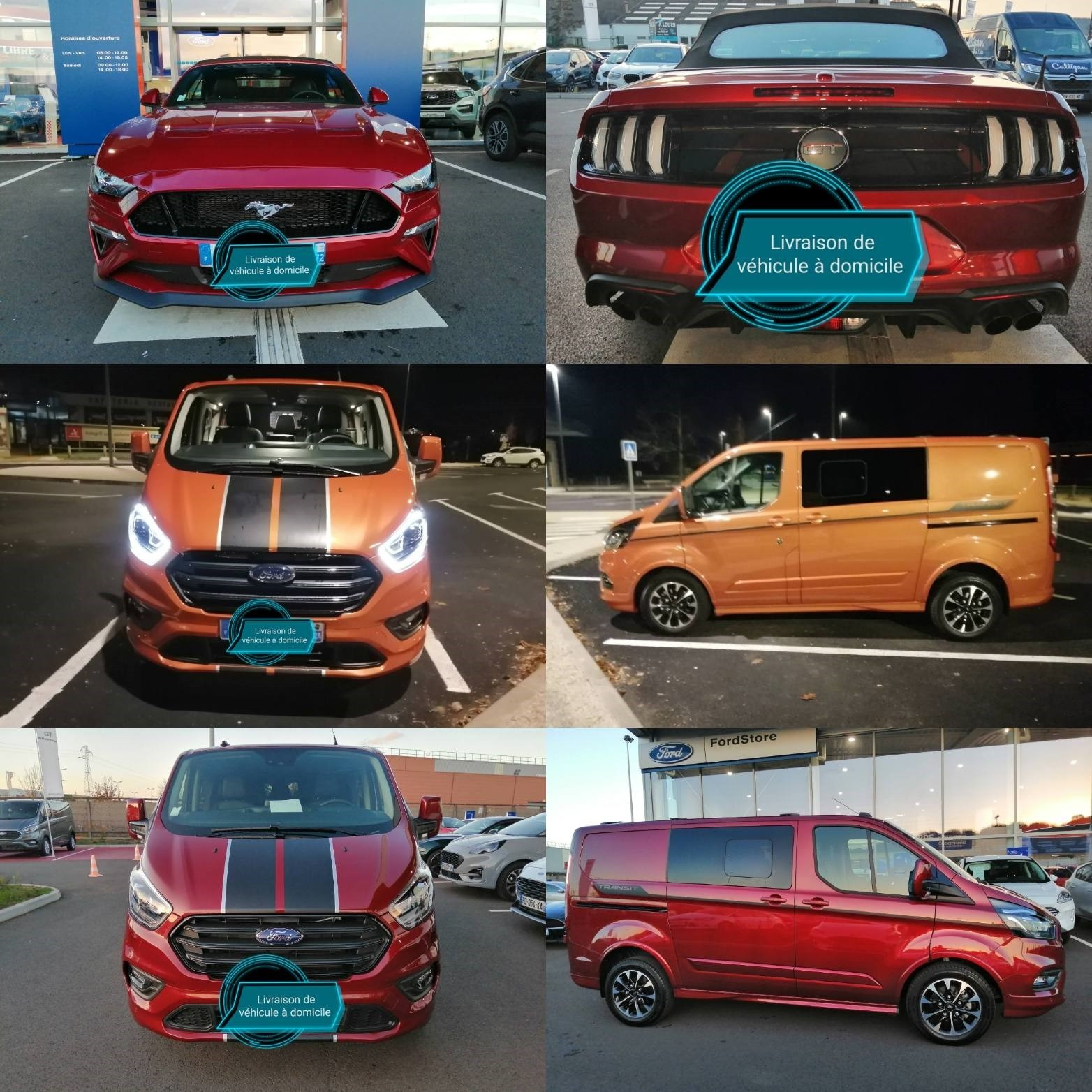 Montage photos convoyage ford